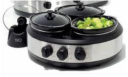 kohl u0027s com tru 3 crock round buffet slow cooker only 23 99