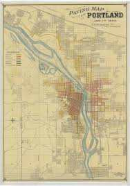 Portland Oregon Airport Map by Illustrated Aerial Map 1890 Vintage Portland