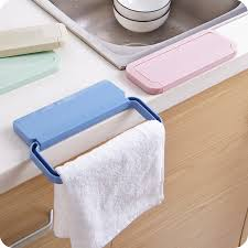 New Self Adhesive Plastic Towel Rack Cabinet Cupboard Door Cloth
