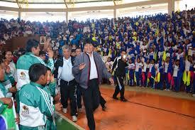 presidente inaugura segunda fase de los juegos aiquile presidente morales inaugura juegos estudiantiles de