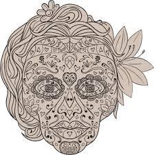 sugar skull royalty free vectors