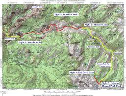 Map Of Yosemite Yosemite Fall 1971