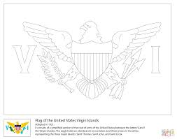 flag of the united states virgin islands coloring page free