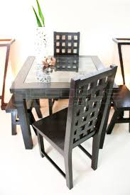 4 seater dining table with bench cc bat stylish set up dining table 4 seater with 2 host chairs and