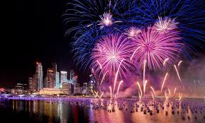 party night wallpapers singapore new years eve holiday fireworks city at night hd