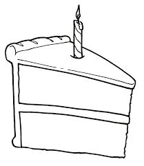 simple birthday cake drawing drawing sketch picture
