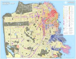 san francisco land use map zoning map zoning districts planning department