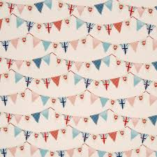 Bird Print Curtain Fabric Bunting Curtain Fabric In Blue Prints U0026 Checks Uk Delivery