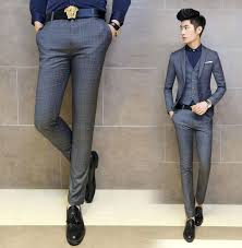 fashion trends cream korean style cheap mens dress pants with