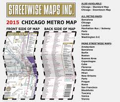 Metro Chicago Map by Streetwise Chicago Cta U0026 Metra Map Laminated Chicago Metro Map
