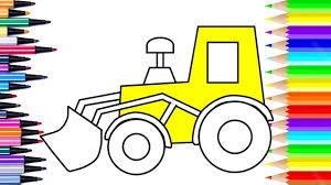 draw tractor tractor kids color