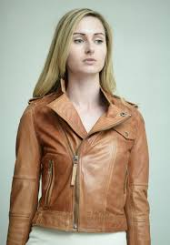 buy biker jacket higgs leathers buy bina ladies antique tan leather biker