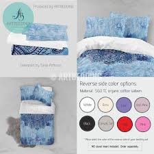 Duvet Bed Set Boho Bedding Free Spirit Duvet Bedding Set Blue Tie Dye Boho