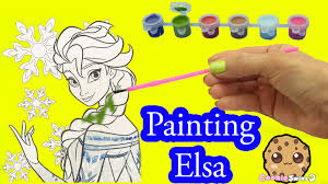 disney frozen coloring paint painting queen elsa craft fun