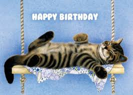Cat Birthday Cards Amazon Com Tree Free Greetings The Swinger Birthday Cards 2