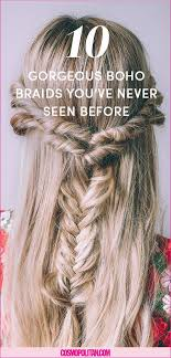 hair braid across back of head 17 messy boho braid hairstyles to try gorgeous touseled and