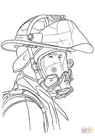 firefighter portrait coloring page free printable coloring pages