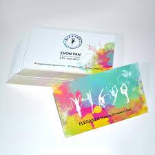 eleganza rhythmic gymnastics club business card design on behance