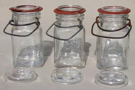 vintage small mason jars glass kitchen canisters w lightning