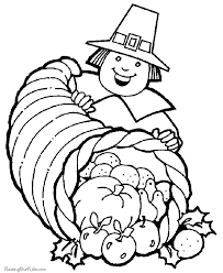 free thanksgiving coloring pages cornucopia