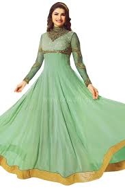 coloured dress designer pista green coloured dress material for special occasions