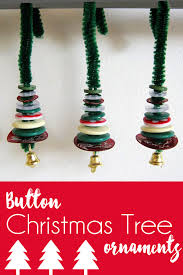 tree ornaments handmade christmas decorations miniature button tree ornaments