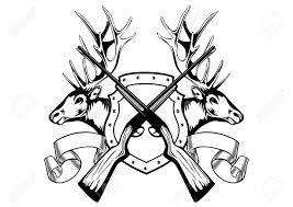 gun clipart deer skull pencil and in color gun clipart deer skull