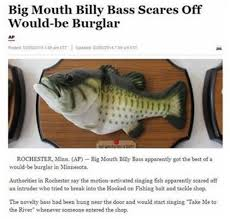 Memes Factory - the memes factory big mouth billy bass scares off would be burglar