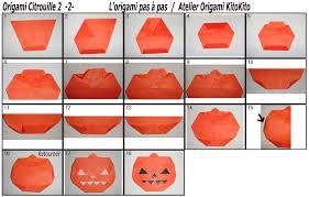 origami halloween citrouille 2 pour