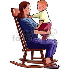 child sitting clipart royalty free mother sitting in a rocking chair holding her child