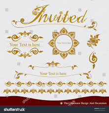 vector set thai ornament design decoration stock vector 222185287