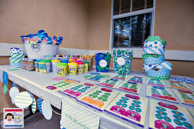 1st Birthday Party Decorations Homemade Being Mvp Diy Green And Blue Birthday Party Decoration With
