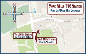 Ttc Subway Map by 10 25am York Mills Ttc Station Passenger Pick Up And Drop Off