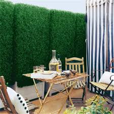 china sale cheap artificial grass fence artificial green boxwood