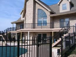Porch Railing Outdoor Aluminum Vinyl Handrail Kits