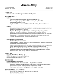 Sample Resume For College Internship by Example Of Mis Internship Resume Http Exampleresumecv Org