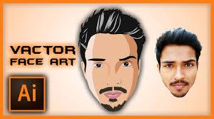 illustrator tutorial vectorize image illustrator tutorial vector face art using pen tool speed art