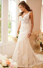 wedding gown dress lace wedding dress with sheer cutouts stella york wedding gowns
