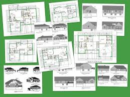 autocad house plans pdf unit apartment building architecture home