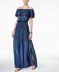inc international concepts off the shoulder denim maxi dress
