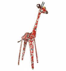 artisan coca cola soda can giraffe ornament from acacia creations