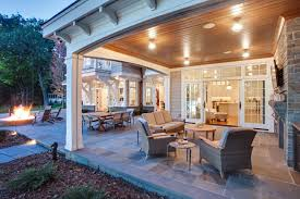 Covered Patio Ideas For Backyard by Covered Patio Vaulted Ceiling With Fireplace Tv Intersting Finds