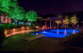 Outside Landscape Lighting - highland park outdoor lighting dallas landscape lighting