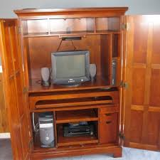 Wood Computer Armoire Workspace Office Furniture Compact Computer Armoire From