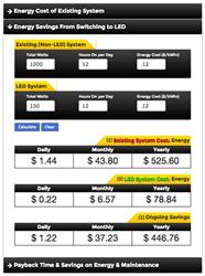 led light energy calculator lighting payback calculator www lightneasy net