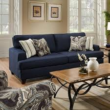 blue sofa living room black and white cushions for the home pinterest white