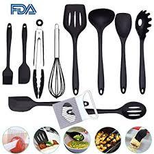 ustensile de cuisine en silicone ensemble d ustensiles de cuisine en silicone de 10 pièces outils en