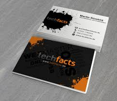 visitenkarte design visitenkarte für geschäftsführer techfacts de business card