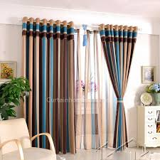 Thermal Curtains For Winter Striped Colorful Bedroom Sound Proof And Thermal Heavy Winter Curtains