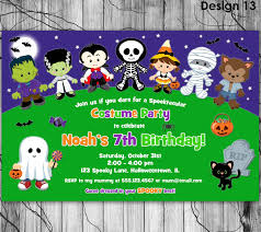 halloween birthday party invitation kids halloween invitation
